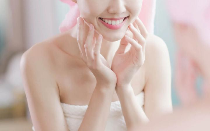 Happy smiling asian woman