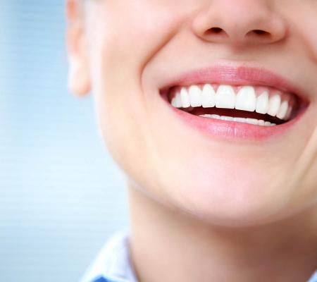Female smile with healthy teeth